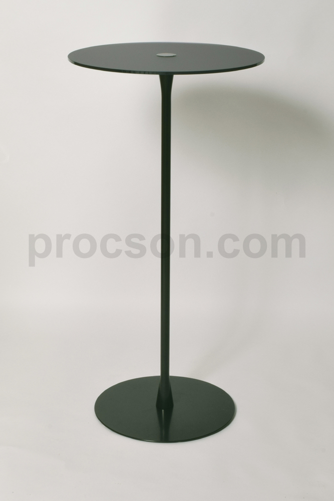 Arc Preachers (Tall) Table In Black With Anti Glare Top